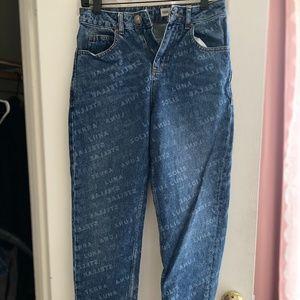 Stamped Asos Straight Leg Pants